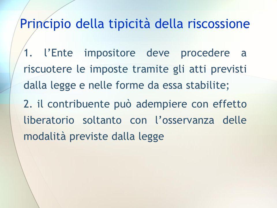 Principio della tipicità della riscossione