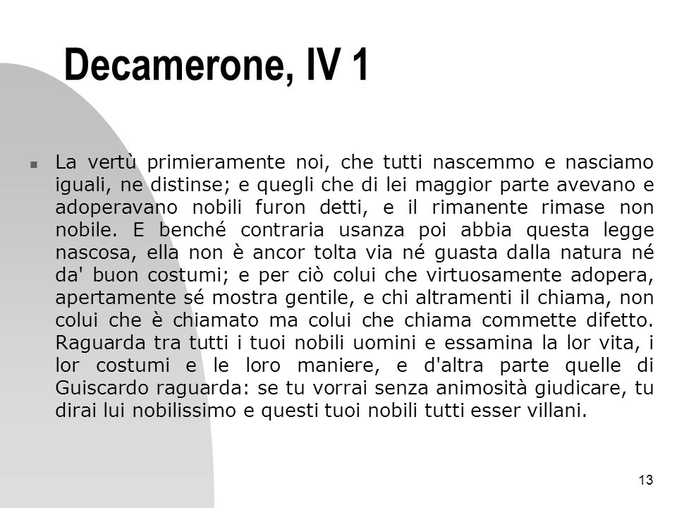 Decamerone, IV 1