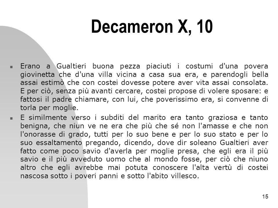 Decameron X, 10