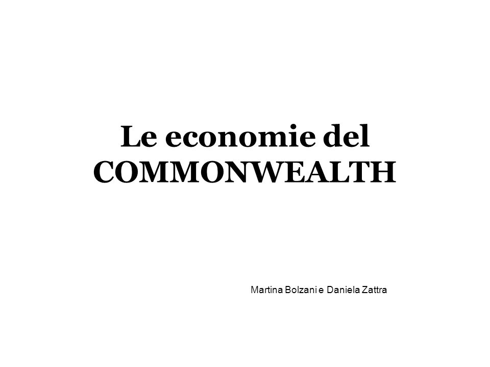 Le economie del COMMONWEALTH