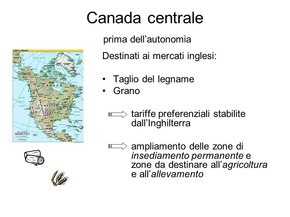 Canada centrale prima dell'autonomia