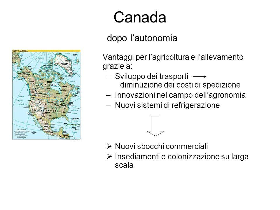 Canada dopo l'autonomia