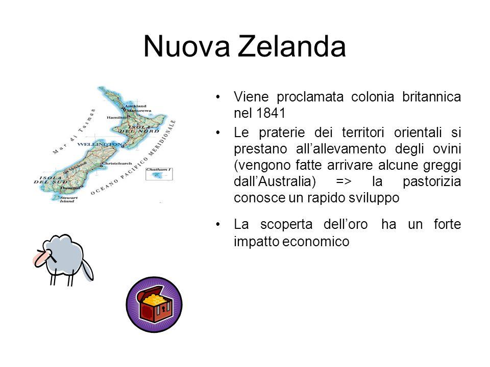 Nuova Zelanda Viene proclamata colonia britannica nel 1841