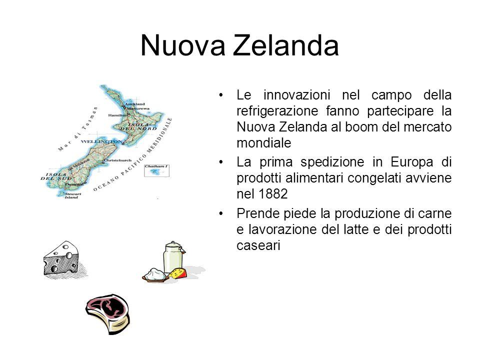 Nuova Zelanda Le innovazioni nel campo della refrigerazione fanno partecipare la Nuova Zelanda al boom del mercato mondiale.