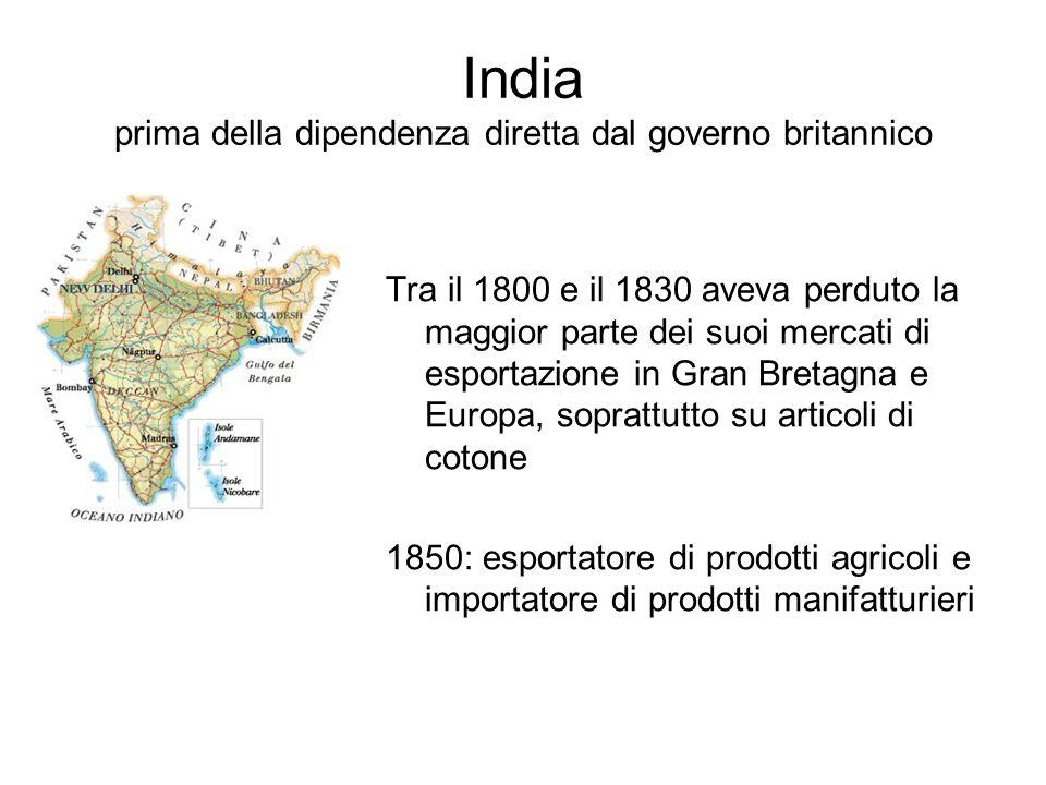 India prima della dipendenza diretta dal governo britannico