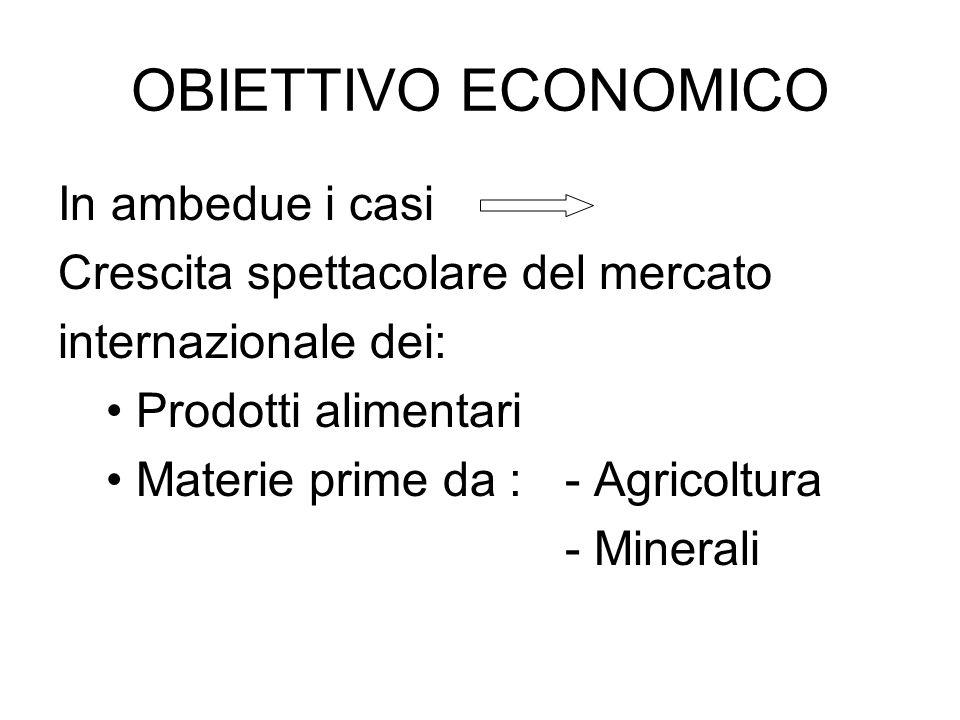 OBIETTIVO ECONOMICO In ambedue i casi