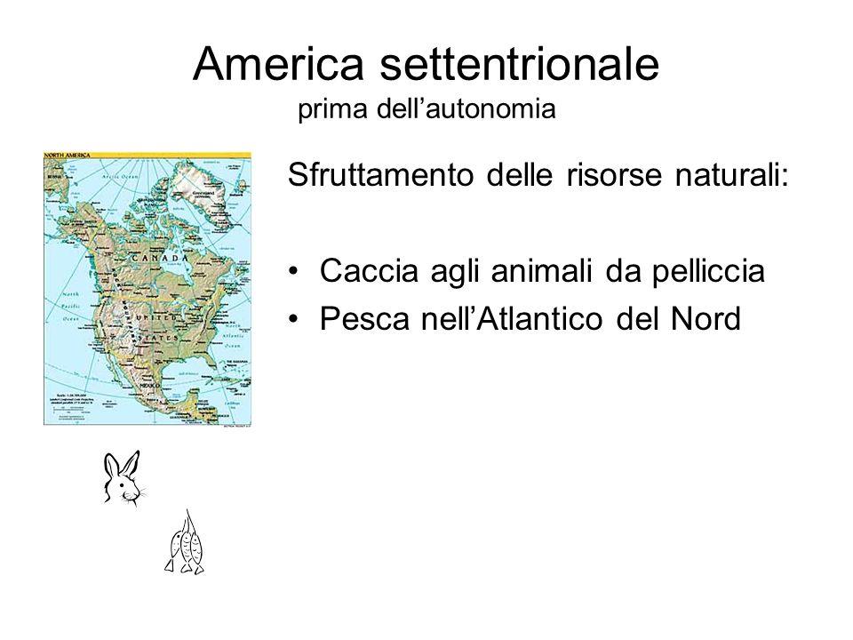 America settentrionale prima dell'autonomia