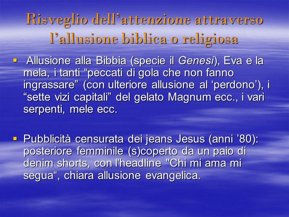 Risveglio dell'attenzione attraverso l'allusione biblica o religiosa