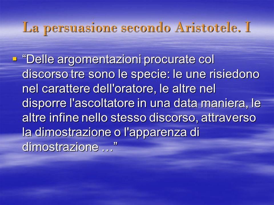 La persuasione secondo Aristotele. I