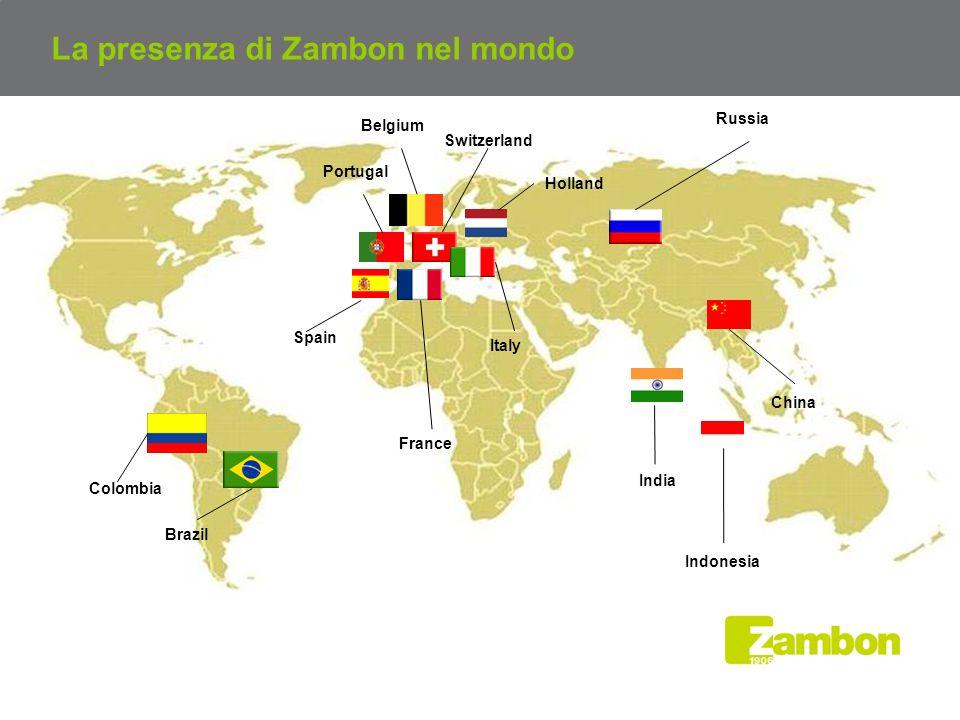 La presenza di Zambon nel mondo
