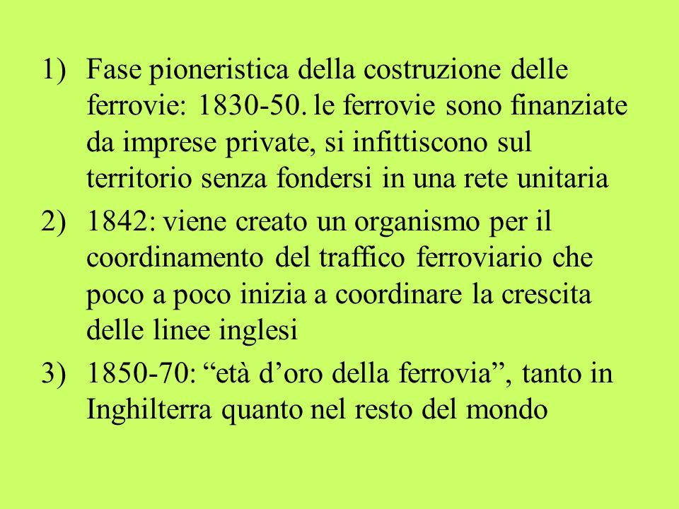 Fase pioneristica della costruzione delle ferrovie: 1830-50