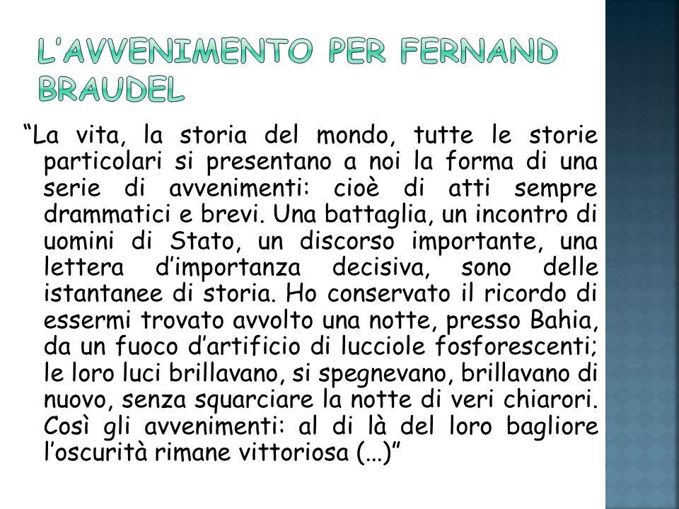 L'avvenimento per Fernand Braudel