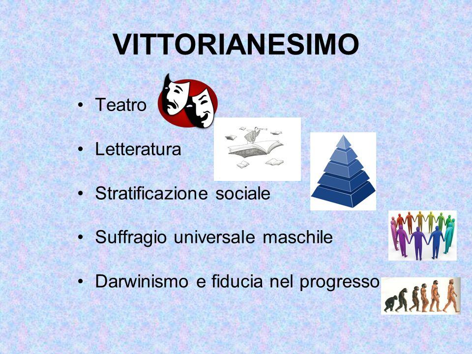 VITTORIANESIMO Teatro Letteratura Stratificazione sociale