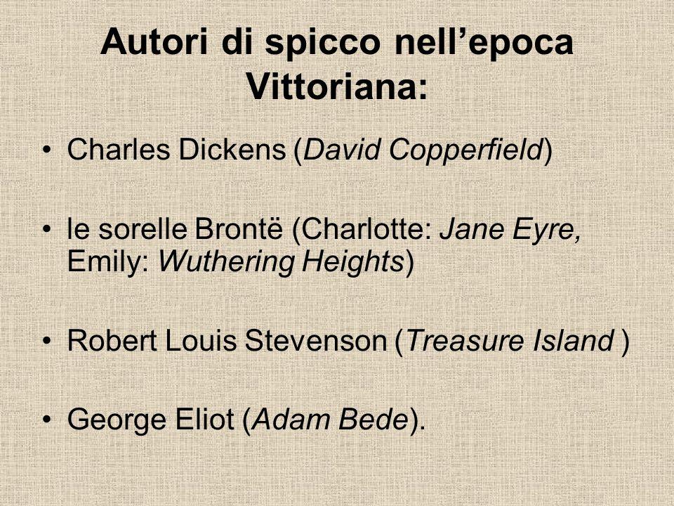 Autori di spicco nell'epoca Vittoriana: