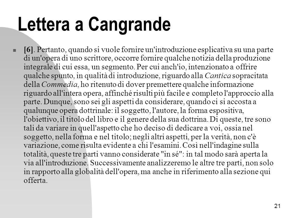 Lettera a Cangrande