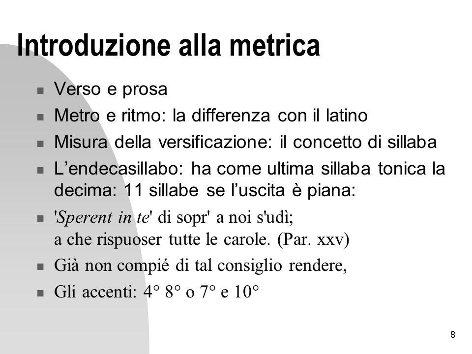 Introduzione alla metrica