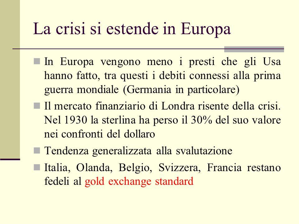 La crisi si estende in Europa