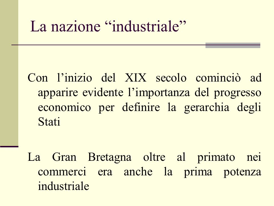 La nazione industriale
