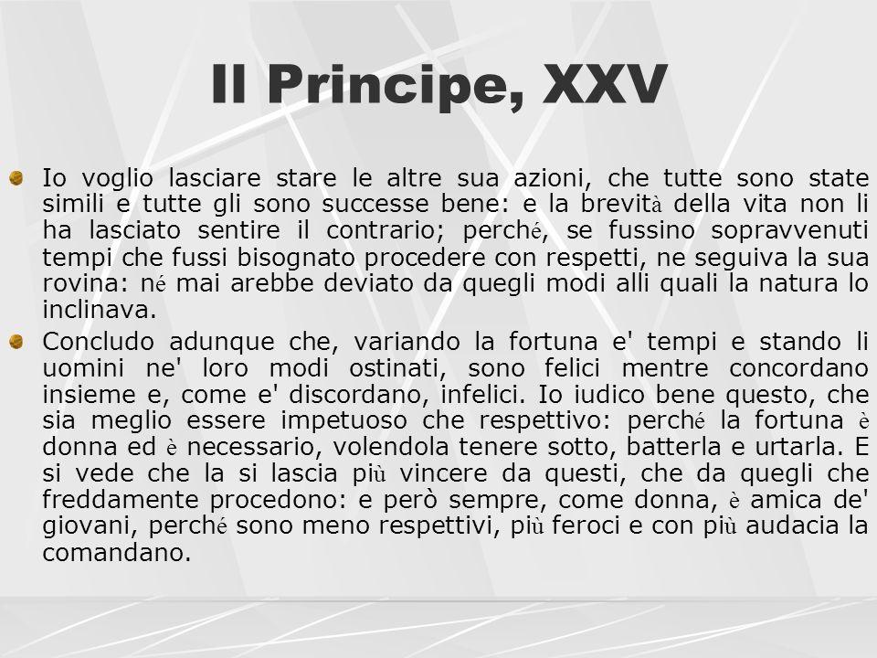 Il Principe, XXV