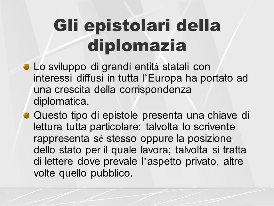 Gli epistolari della diplomazia