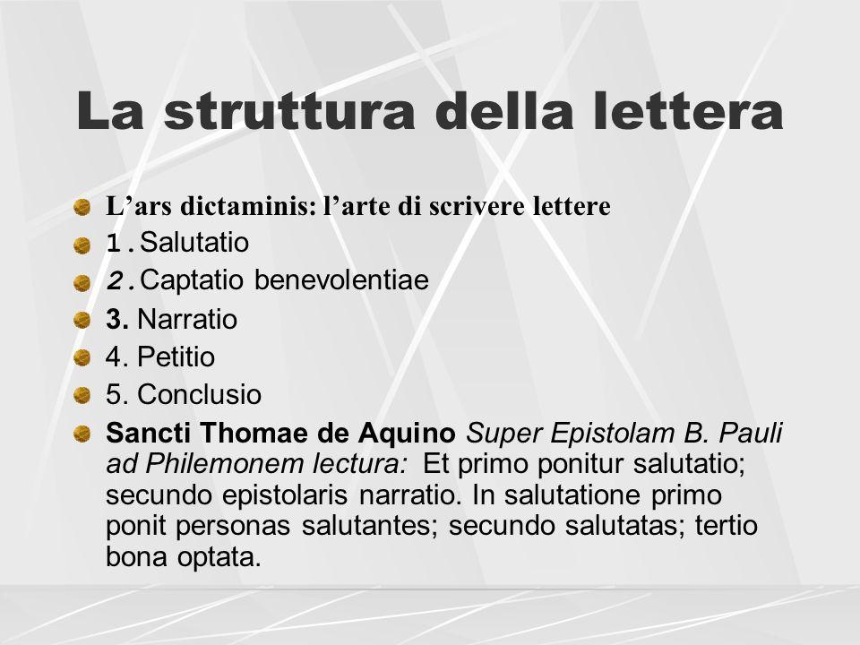 La struttura della lettera