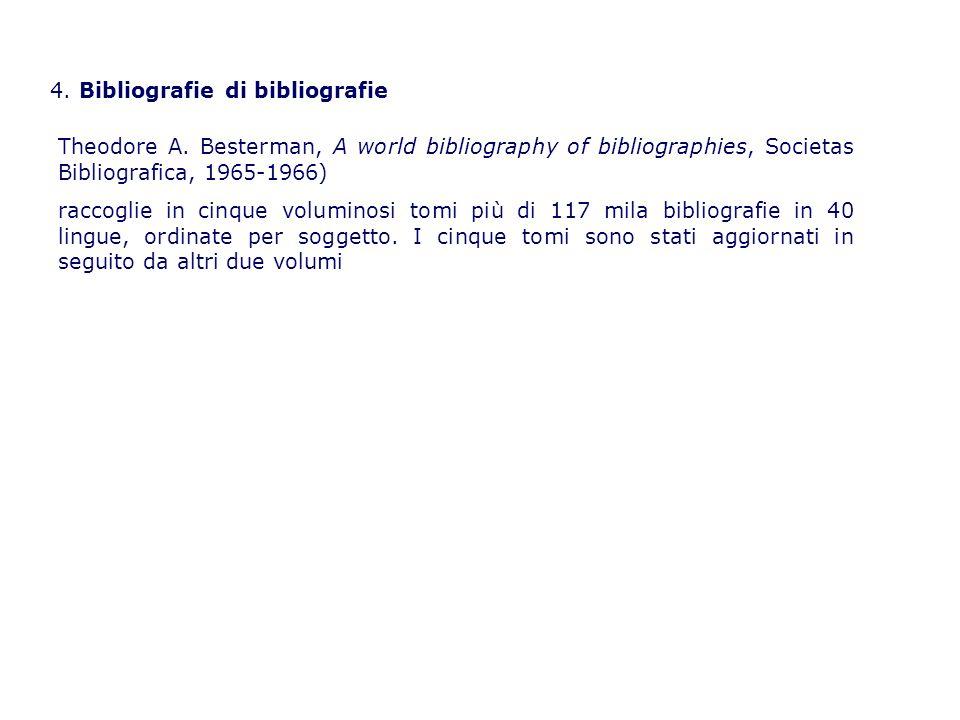 4. Bibliografie di bibliografie