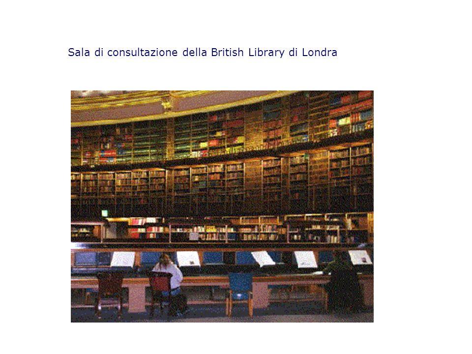 Sala di consultazione della British Library di Londra