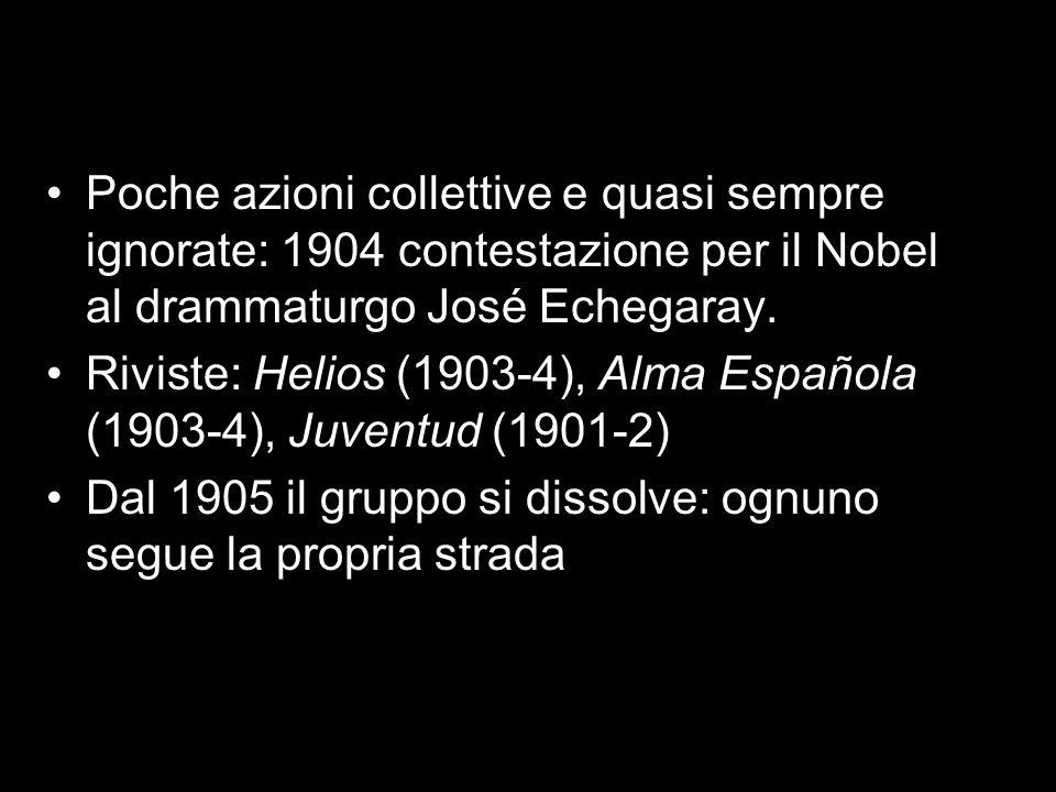 Poche azioni collettive e quasi sempre ignorate: 1904 contestazione per il Nobel al drammaturgo José Echegaray.