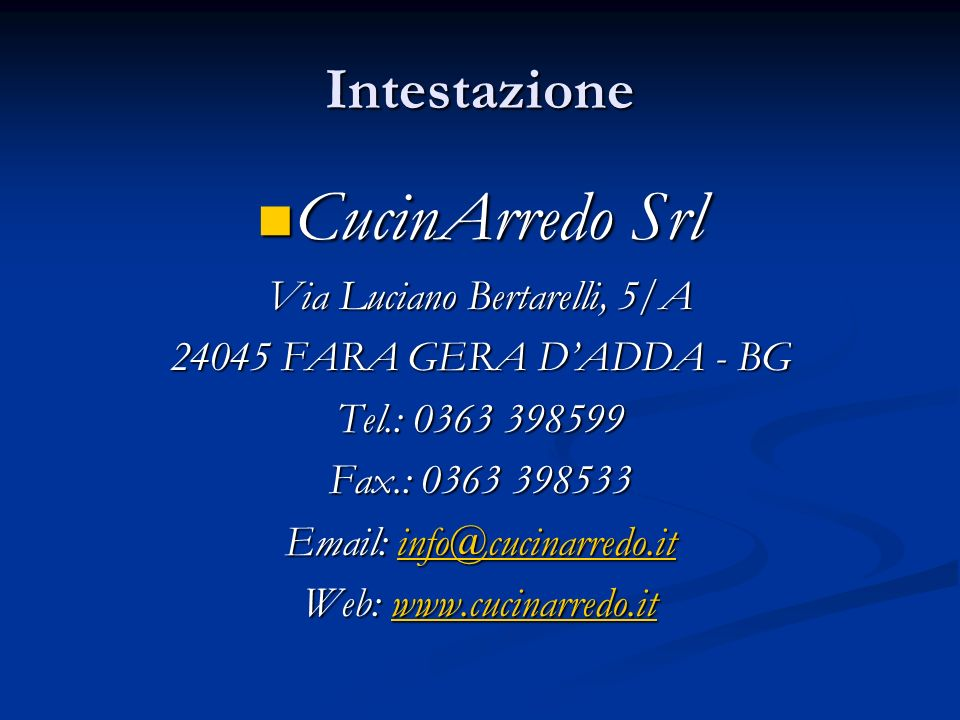 Via Luciano Bertarelli, 5/A