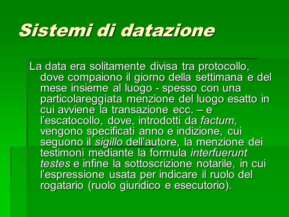 Sistemi di datazione