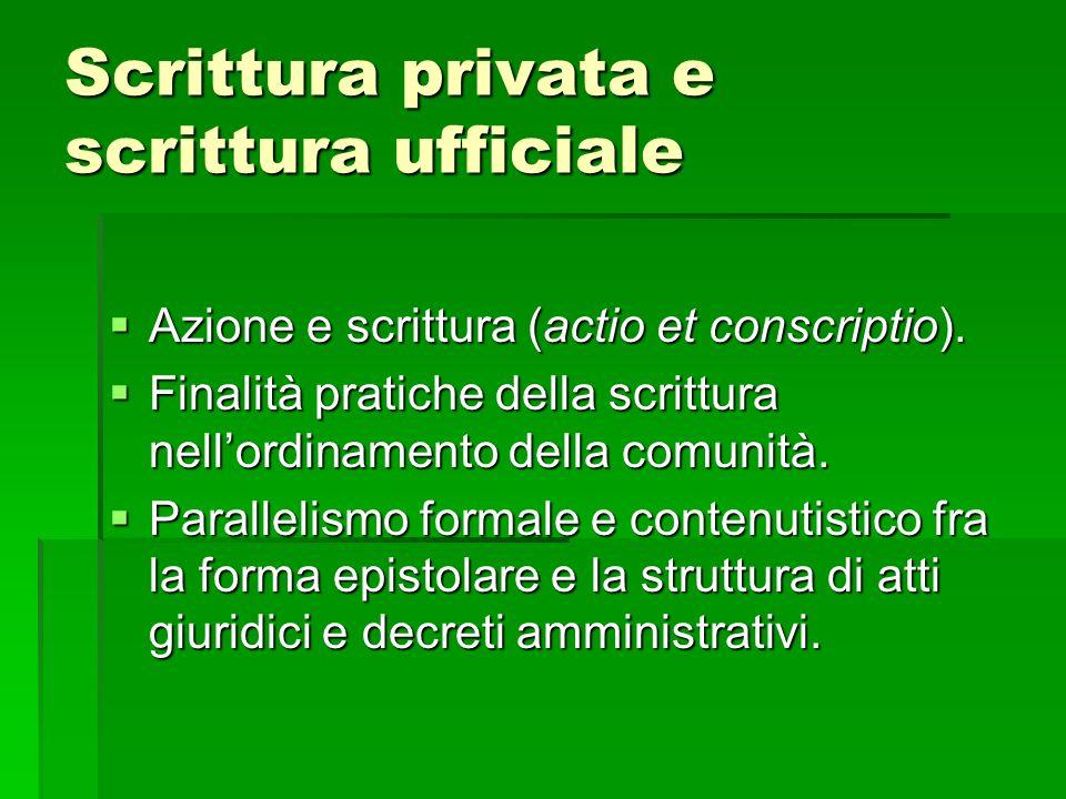Scrittura privata e scrittura ufficiale