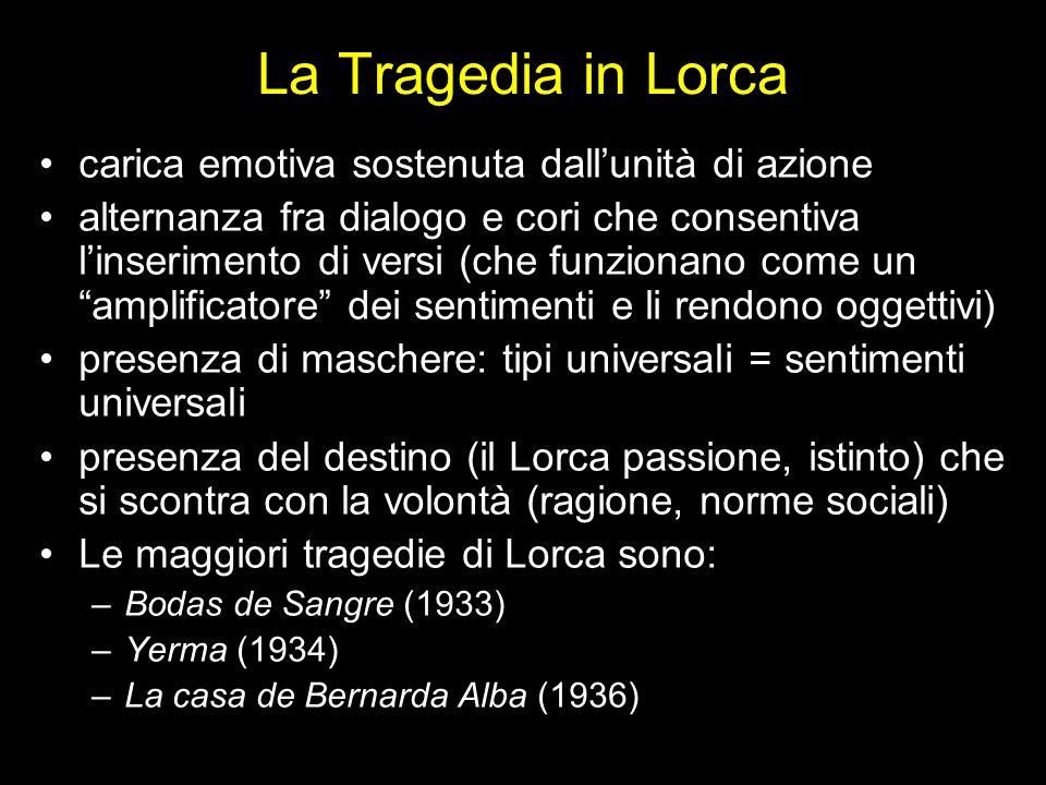 La Tragedia in Lorca carica emotiva sostenuta dall'unità di azione