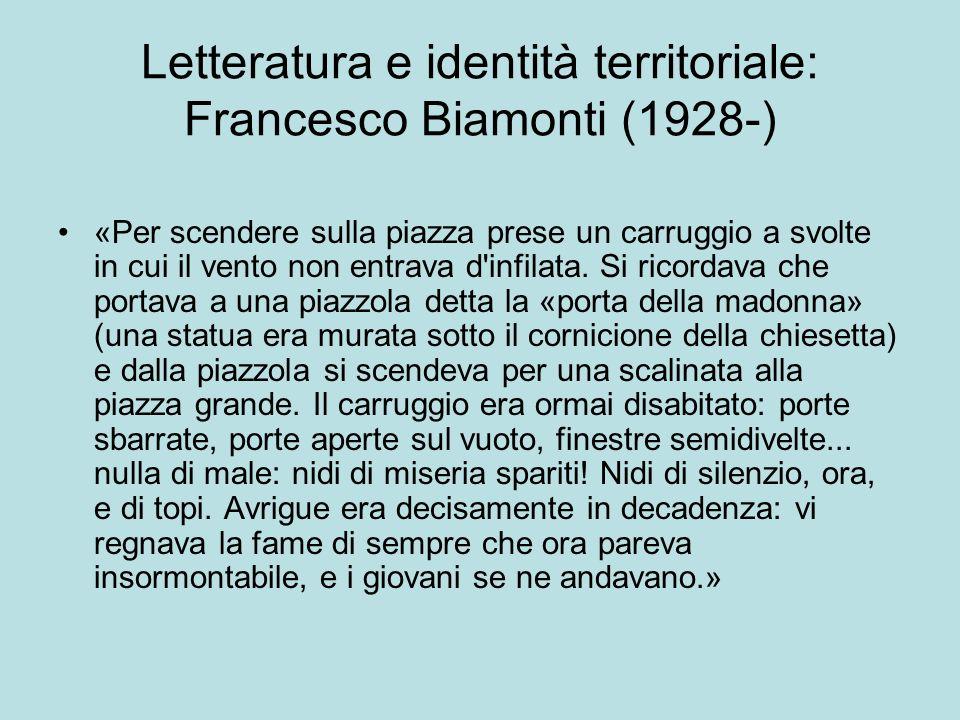 Letteratura e identità territoriale: Francesco Biamonti (1928-)