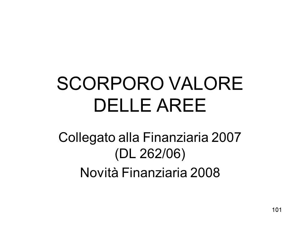 SCORPORO VALORE DELLE AREE