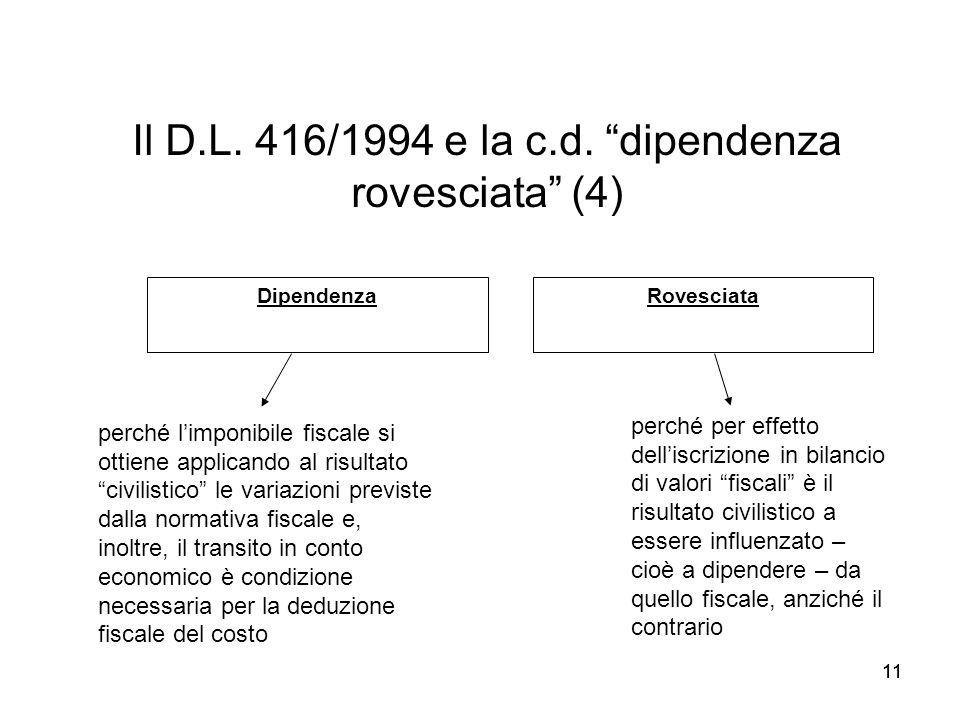 Il D.L. 416/1994 e la c.d. dipendenza rovesciata (4)