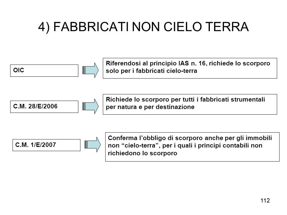 4) FABBRICATI NON CIELO TERRA