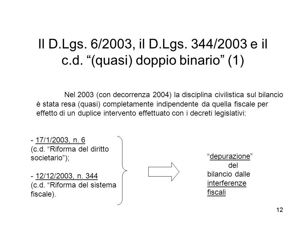 Il D.Lgs. 6/2003, il D.Lgs. 344/2003 e il c.d. (quasi) doppio binario (1)