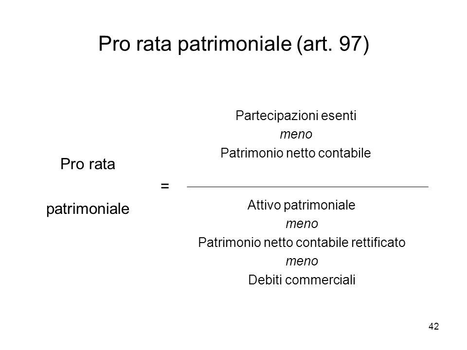 Pro rata patrimoniale (art. 97)