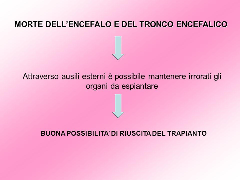 MORTE DELL'ENCEFALO E DEL TRONCO ENCEFALICO