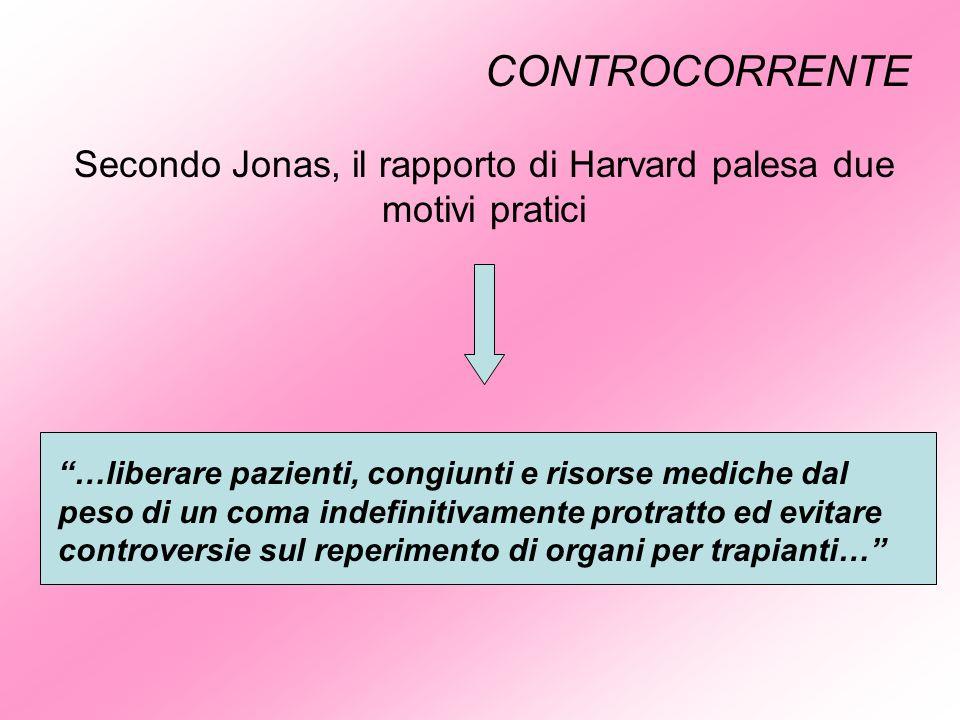 Secondo Jonas, il rapporto di Harvard palesa due motivi pratici