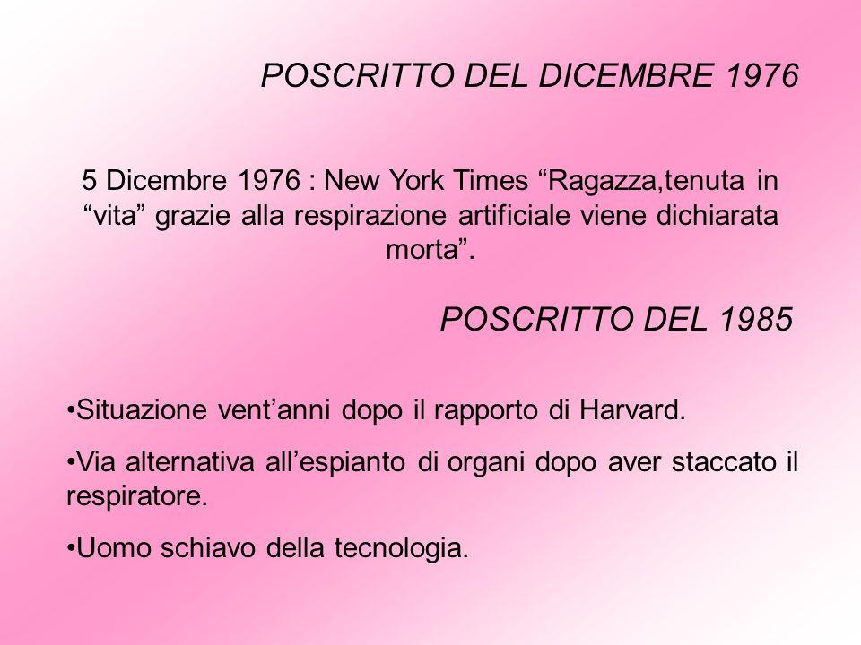 POSCRITTO DEL DICEMBRE 1976