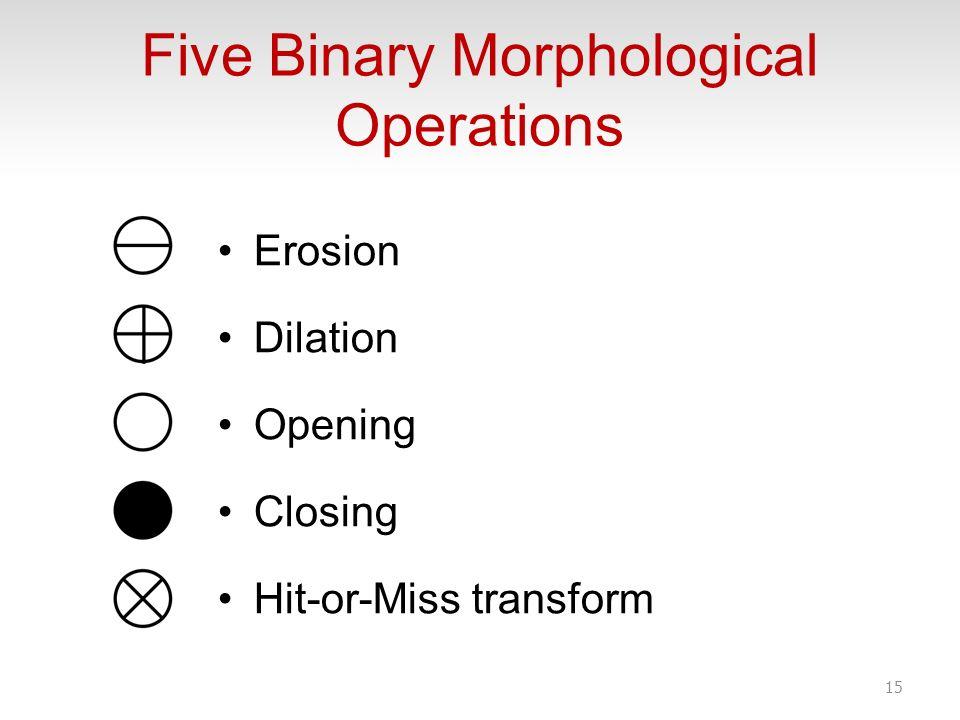 Five Binary Morphological Operations