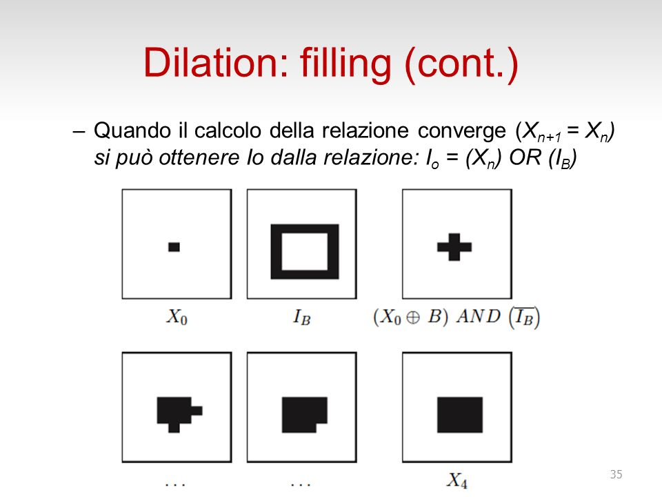 Dilation: filling (cont.)