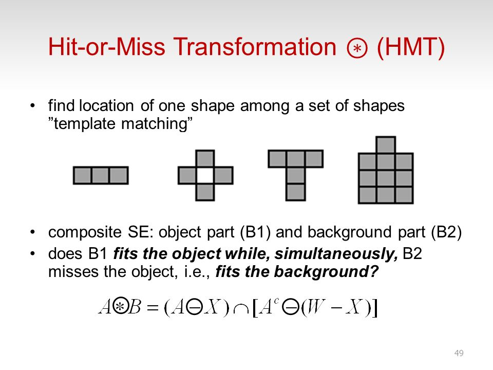 Hit-or-Miss Transformation ⊛ (HMT)