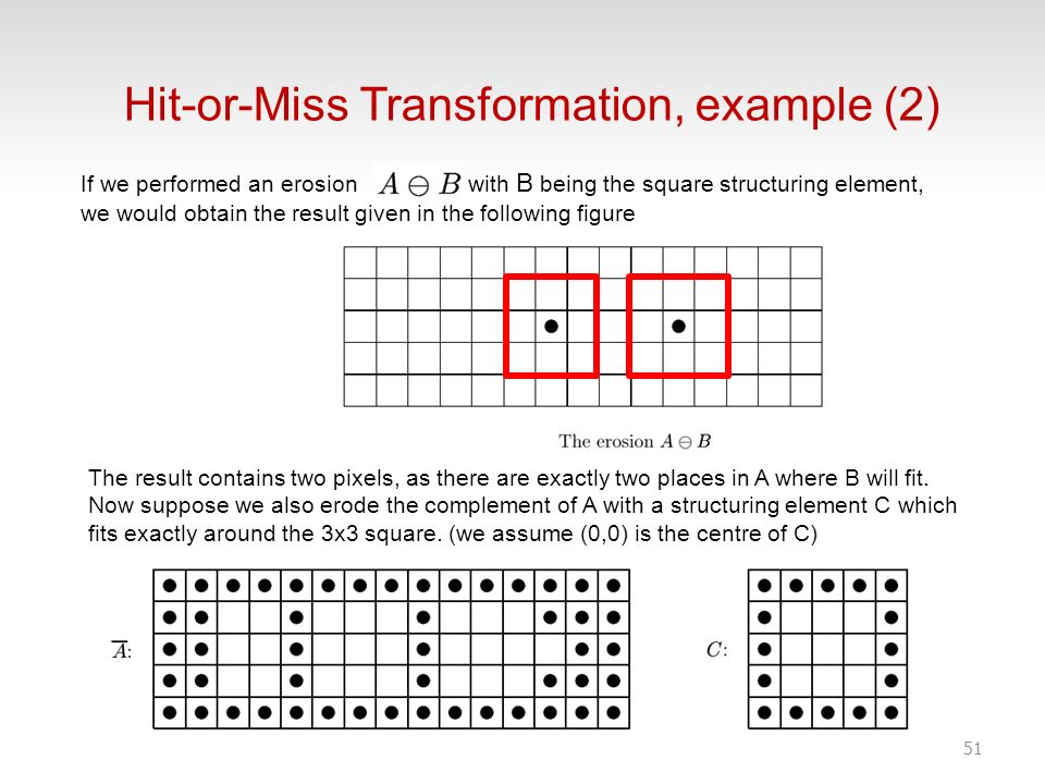 Hit-or-Miss Transformation, example (2)