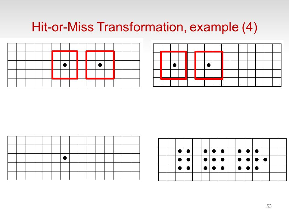 Hit-or-Miss Transformation, example (4)
