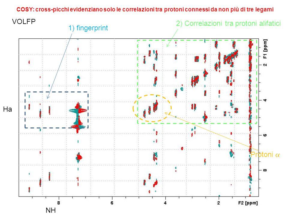 2) Correlazioni tra protoni alifatici