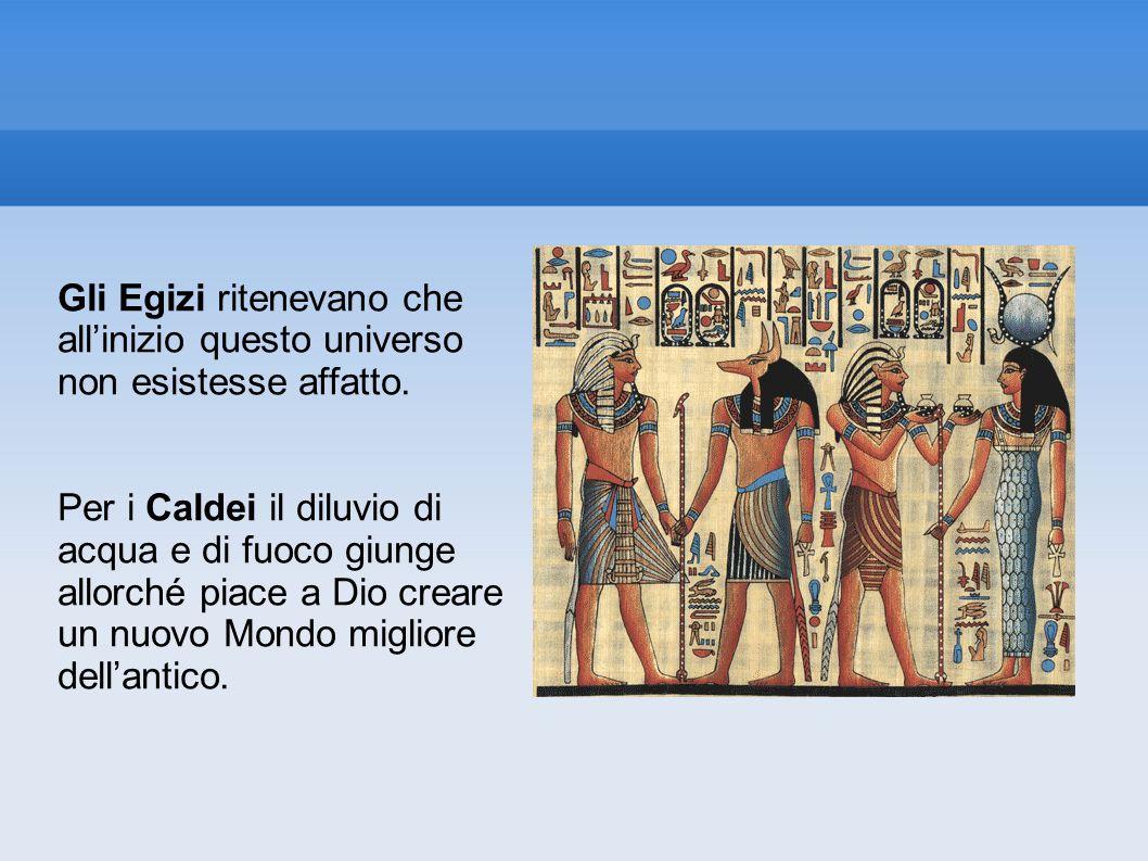 Gli Egizi ritenevano che