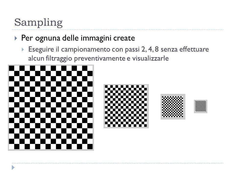 Sampling Per ognuna delle immagini create
