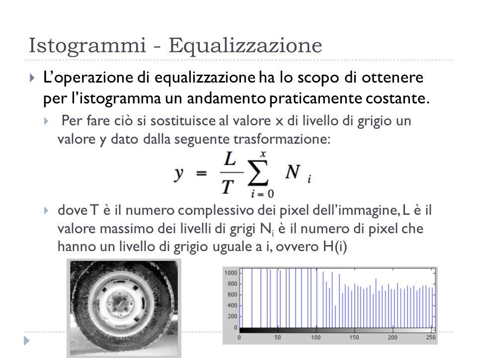 Istogrammi - Equalizzazione